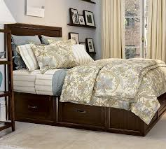 stratton platform bed with underneath storage from pottery barn
