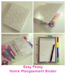 Simple Way To Make A Home Management Binder Or DIY PlannerZoeAtHome