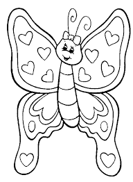 Printable Coloring Pages Of Flower Butterfly