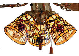 Concord Lamp And Shade by 67013 Tiffany Jeweled Grape Fan Light Shade