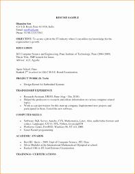 Sample Resume For Assistant Professor In Computer Science Lovely Format Lecturer Puter