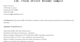 Commercial Truck Driver Resume Examples And Medical Transportation Sample For