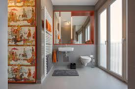 orange graues modernes badezimmer modern badezimmer