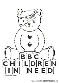 6 Awesome Children In Need Colouring Pages For Girls All The Are Printable Books To Paint Or Colour
