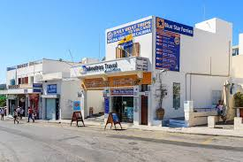 Download Main Street Of Thira Town With Office Travel Agency Editorial Photo