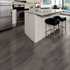 Snap Lock Flooring Kitchen by Allure Isocore Gotham Oak Grey 8 7 In X 59 4 In Luxury Vinyl