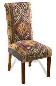 Pottery Barn Napoleon Chair Slipcover by Southwest Inspired Kilim Fabric Rustic Lodge U0026 Cabin Decor