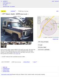 At $2,995, Is This 1977 Chevy Blazer Chalet A Camper That One Day ... Craigslist Portland Cars Trucks By Owner Best Car 2017 Salem Oregon Used And Other Vehicles Under Olympic Peninsula Washington For Sale By Crapshoot Hooniverse Craiglist Tools Automoxie Salesforce Old Town Music Image Truck Kennewick Wa For Legacy Ford Lincoln Dealership In La Grande Or Vancouver Clark County This 67 Camaro Is An Untouched Time Capsule It Could Be Yours