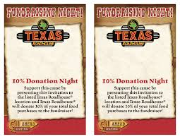 Safety Patrol Fundraiser Texas Roadhouse December 19th, 2012 ... Texas Roadhouse Coupons 110 Restaurants That Offer Free Birthday Food Paytm Add Money Promo Code Kohls 20 Percent Off Coupon Top Printable Batess Website Pie Five Pizza Co Coupon Code For 5 Chambersburg Sticker Robot Hotels Near Bossier City La Best Hotel Restaurant Menu Prices 2018 Csgo Empire Fat Pizza Discount And Promo Codes 20 Discount Dubai Hp Printer Paper Printable