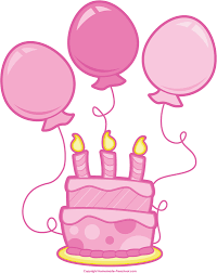 Clipart Birthday Cake And Balloons Pink Birthday Balloons Clipart Clipartix Print Coloring Pages Download