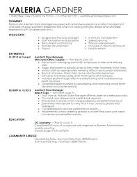 Australian Government Resume Samples Examples For Retail Assistant Store Manager Example