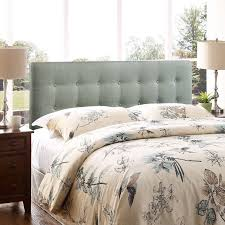 Wayfair King Fabric Headboard by Bedroom Interesting Bedroom With Grey Fabric Upholstered Buttot