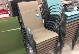 Stack Sling Patio Chair Tan by Target Patio Clearance 50 Off Sling Chairs And Outdoor Dining