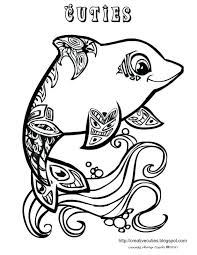 Cute Baby Mermaid Coloring Pages Colouring Quirky Artist Loft Cuties Free Animal