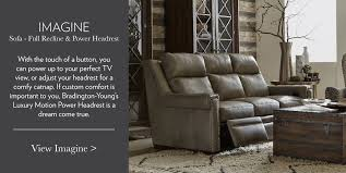 Bradington Young Leather Sofa Recliner luxurious leather furniture bradington young