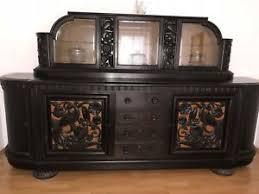 details zu altes esszimmer buffet kulissentisch 5 stühle beistelltisch eckbank