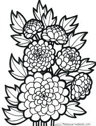 Abstract Flower Coloring Pages For Adults Flowers Design Gallery Sheets Preschoolers Printable Simple Full Size