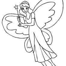 Fairy With Big Butterfly Wings Coloring Page