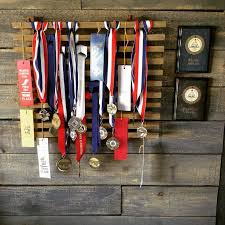 Ribbon Medal Display Idea From I Tore Apart An Old Tired Plant Stand Found Set On The Curb For Trash