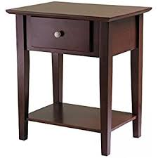 End Table With Lamp Attached Walmart by Amazon Com Winsome Wood End Table Night Stand With Drawer And