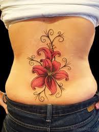 Gladiolus Flower Tattoo On Back TB1105