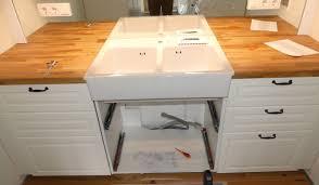 installing the sink ikea kitchen