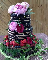 Rustic Chocolate Wedding Cake