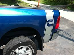 100 Blue Dodge Truck Cummins Diesel Logo 1 Bed Side Stripes