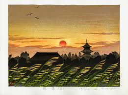 Sunset In Ancient City Japanese