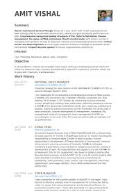 Salon Owner Resume Examples 25 Super National Sales Manager Samples Visualcv Database Of