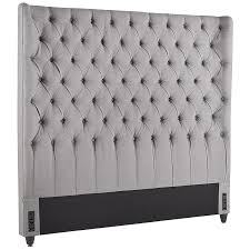 Audrey II Upholstered Pewter Wingback Headboard