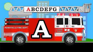 Fire Truck Alphabet - Learn English ABCs - Fire Trucks For Kids ...
