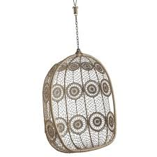 Knotted Melati Hanging Chair Natural Motif by Hanging Out In Style The Best Hanging Chairs Apartment Therapy