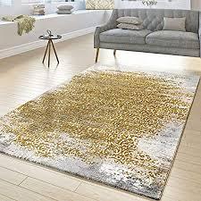 t t design designer teppich wohnzimmer kurzflor teppich florale ornamente grau gold gelb größe 200x290 cm