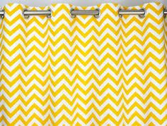 Yellow And White Chevron Curtains by Zen Chevron Curtains Available In 3 Color Choices Yellow