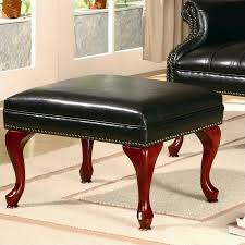 Leather Tufted Chair And Ottoman by Coaster Wing Back Tufted Faux Leather Arm Chair And Ottoman In