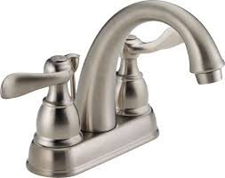 Delta Bronze Bathroom Sink Faucets by Faucet Com B2596lf Ss In Brilliance Stainless By Delta