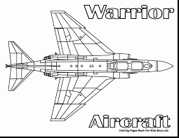 Astonishing Military Airplane Coloring Pages With Jet And Ski