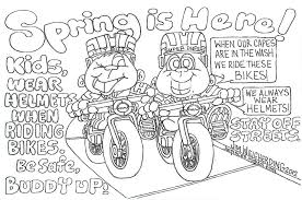 Bike Helmet Safety Coloring Page Pics Of Bicycle Pages And