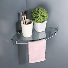 brand umi glasregal duschregal duschablage ecke eckregal dusche glas ablage 7mm badezimmer wandregal edelstahl sus304 glasablage mit