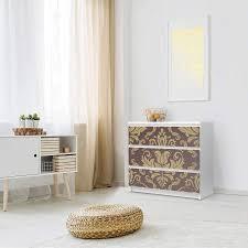klebefolie für möbel ikea malm kommode 3 schubladen design retro revival