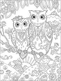 Simple Adult Coloring Pages Owls About Printable
