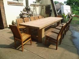 large patio table and chairs custom teak furniture large outdoor table plans tradur glenn