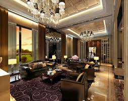 Living Room Decorating Ideas Black Leather Sofa by Classics Luxury America Villa Living Room Interior Design With