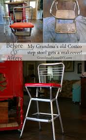Cosco Mahogany Folding Table And Chairs by My Grandma U0027s Old Cosco Step Stool Grandmas House Diy