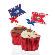 Celebration Cupcake And Sandwich Flags