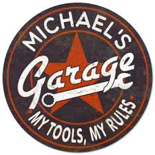 Personalized Garage Vintage Metal Sign My Tools My Rules