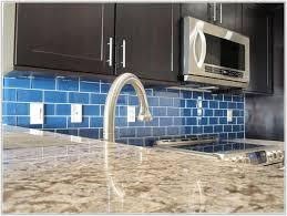 blue glass tile backsplash kitchen tiles home decorating ideas