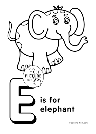 Letter E Coloring Pages Alphabet Words For Kids