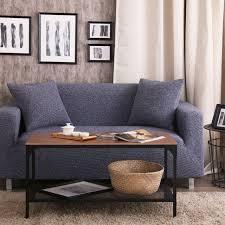 canapé polyester bleu housses canapé élastique housse de canapé pas cher tissu
